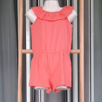 QUEEN KIDSWEAR JUMPSUIT/BAJU ANAK PEREMPUAN BRANDED (2) - Orange Rumbai, 4 tahun
