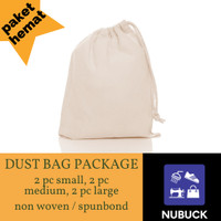 Dust Bag Package / Dust bag S M L - Putih