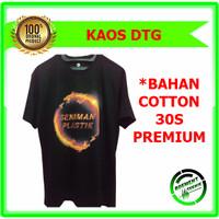 KAOS DTG custom SENIMAN PLASTIK - Hitam, M