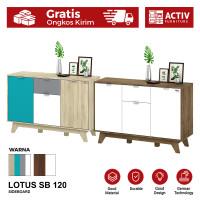 Activ Meja Samping Minimalis / Sideboard Bufet Kabinet / LOTUS SB 120