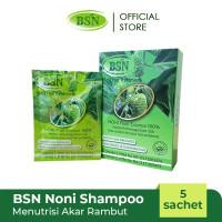 PROMO BSN Noni Shampoo isi 5 sachet GRATIS Indomie 5 Rasa bungkus