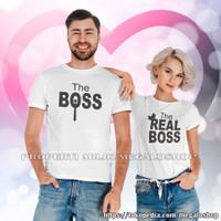 KAOS COUPLE/KAOS PASANGAN/BAJU COUPLE/BAJU PASANGAN The Real Boss