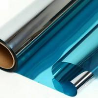 Kaca film/kaca film penolak panas/kaca film cermin/kaca film one way - SILVER BLUE