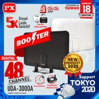 Antena TV Dinding Digital Analog Indoor DVB T2 + Booster PX UDA-3000A