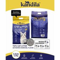 Pasir kucing Kandila Tofu Soya Cat Litter 5.5lbs 2.5kg - Charcoal
