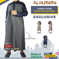 Baju Jubah Gamis Anak Laki Laki Lengan Panjang Koko Kombinasi Premium - Abu Tua, 10