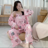 Set Kimono 3in1 PP Piyama Baju Tidur Wanita Import Fashion 7103