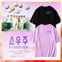 kaos tshirt pria BTS SOWOOZOO logo - kaos K-pop - free PC - Ungu Muda, S