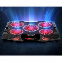 ICE FAN Cooling Pad Laptop 5 Kipas NAJU TERMURAH DI TOKOPEDIA - Hitam Merah