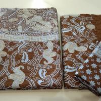 kain batik sarimbit bahan motif viscose semi sutera couple cap tulis