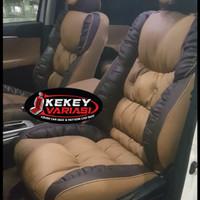 sarung jok motif sofa MBtech Camaro untuk 3 baris Fortuner Inova dll