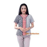 Blouse Batik Diamond Classic - Atasan Batik Wanita Kekinian - S