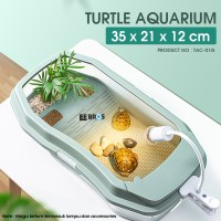 Aquarium Kura Kura / Turtle Aquarium / Tank / Kandang Kura TAC-01G