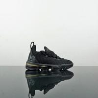 Sepatu Nike kids lebron james Black gold