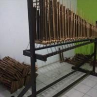 Angklung Toel Bambu Hitam 31 Nada Angklung Ngamen Berdiri