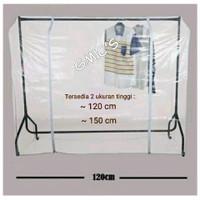 Cover gawang plastik pelindung baju anti debu cover pelindung baju - Tinggi 120