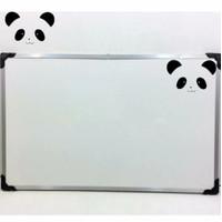 whiteboard gantung magnet uk 60x120cm / whiteboard magnetic panda