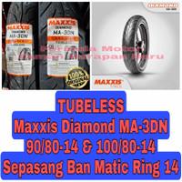 Maxxis 90/80-14 & 100/80-14 Diamond MA 3DN Sepasang Ban Motor Matic