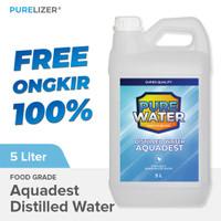 Aquadest / Distilled Water 5 Liter Air Suling / Aquades / Akuades 5L