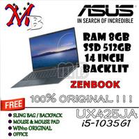 ASUS ZENBOOK UX425JA /i5-1035G1 /RAM8GB /512GB SSD /BACKLIT /FHD WIN10