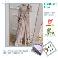 Baju Gamis Wanita Terbaru Untuk Kondangan Navite Dress Fashion Muslim - coksu mocca
