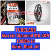 Maxxis 100/80-14 Diamond MA 3DN - Ban Motor Matic Ring 14 Tubeless