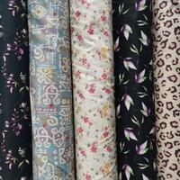 Kain Textile Katun Jepang Original Baju Per 1.5 Meter Mukena Gamis