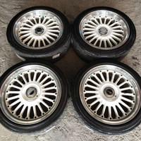 Velg Mobil Bekas PDW Ring 17 pcd 4-100-114.3 Ban Dunlop 205-45 215-45