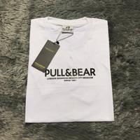 Baju Kaos Tshirt Pull & Bear Original White