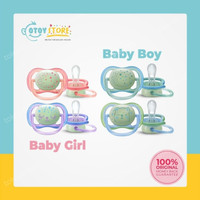 Philips Avent Pacifier 0-6m Glow In The Dark TwinPack / Empeng Avent