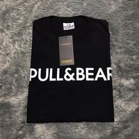 Baju Kaos Tshirt Pull & Bear Original Black