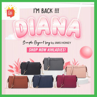 Jims Honey-Diana Sling Bag Tas Wanita Selempang-Tas wanita Import - Merah