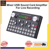 USB Mixer Sound Card Amplifier Live Karaoke Broadcast Recording - F8