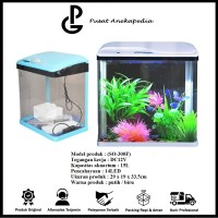 Aquarium mini SOBO - akuarium Ikan hias aquarium usb full ( SO-300F )