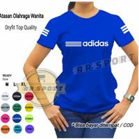 baju senam baju olahraga wanita kaos atasan senam lengan pendek adr02