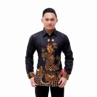 Kemeja Batik Pria Lengan Panjang Motif Naga Baju Batik Pekalongan - B, M