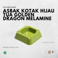 Asbak Kotak Hijau Tua Golden Dragon Melamine (Y0104)