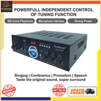 Audio Bluetooth Amplifier Booster HiFi Stereo 2 Channel AV-505AT