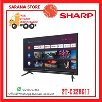 SHARP 2T-C32BG1I ANDROID TV LED - Hitam [32 Inch/ HD READY]