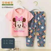 baju rumah/santai/setelan impor anak perempuan 4-6th Minnie Sofia Girl