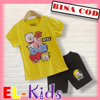 Baju Anak Perempuan/Setelan Anak Perempuan, D&C, BTS, BT 21, Yellow