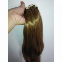 Rambut sambung asli ori 100% warna coklat 55cm Bergaransi