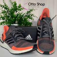 Preloved sepatu lari Adidas ultra boost 19 ORI warna hitam orange S018