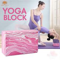 Balok Yoga Fitness Pilates Marble Brick / Marble Yoga Block Foam