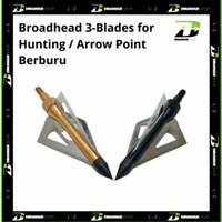 Broadhead 3-Blades for Hunting / Arrow Point Berburu - Hitam