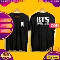 T-shirt Baju Kaos Distro Pria Wanita Band KPOP BTS Army Unisex Premium