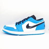 Sepatu Nike Air Jordan 1 Low 'UNC' - 44.5