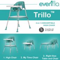 Evenflo Y9312 Trilo 3in1 Highchair / Kursi Makan Anak