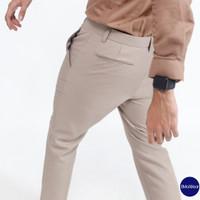 celana panjang pria /celana bahan pria / ankle pants - Moca, 28