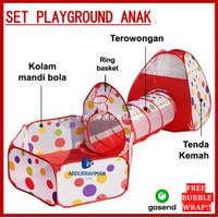 Mainan Tenda Kemah Kemahan Kolam Mandi Bola Playground Anak Anak Bayi